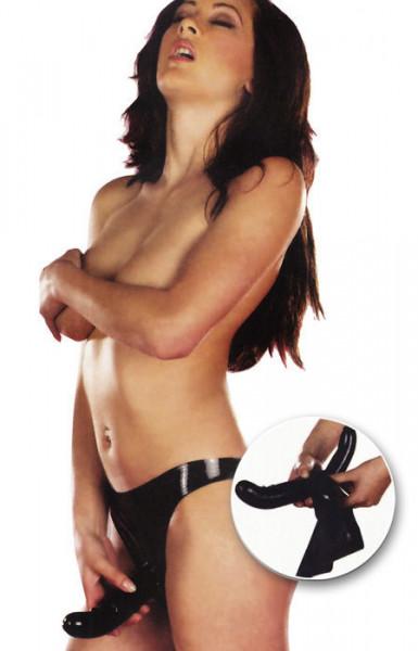 DOUBLE G-PLEASURE [Sharon Sloane] LATEX DOPPEL-DILDO-SLIP