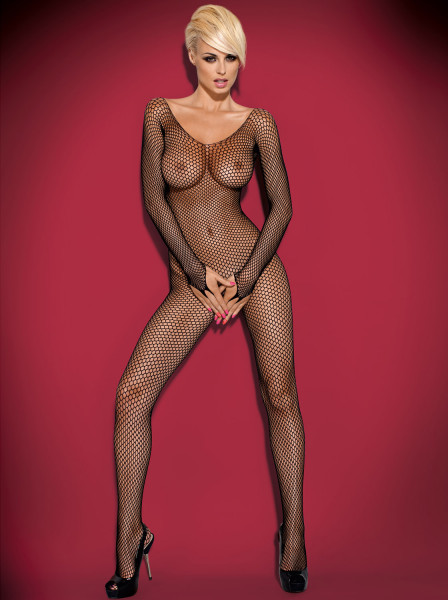 OUVERT-BODYSTOCKING [Obsessive] schwarz